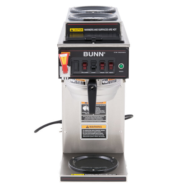 Automatic 12 Cup Coffee Brewer with 2 Upper Warmers
