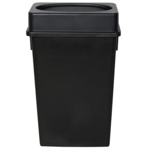 Black Slim Rectangular Trash