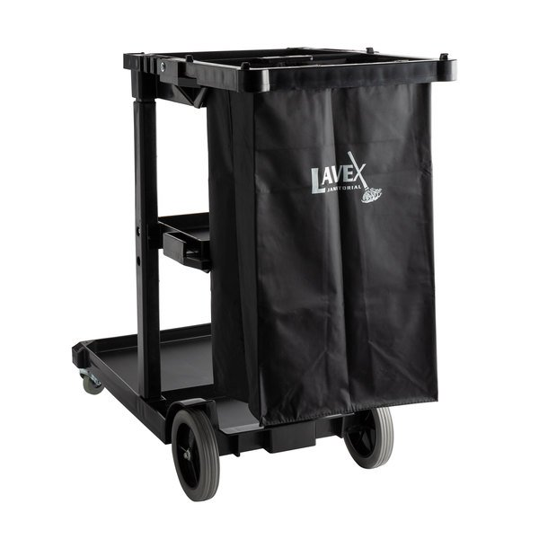 Lavex Janitorial Black Cleaning Cart