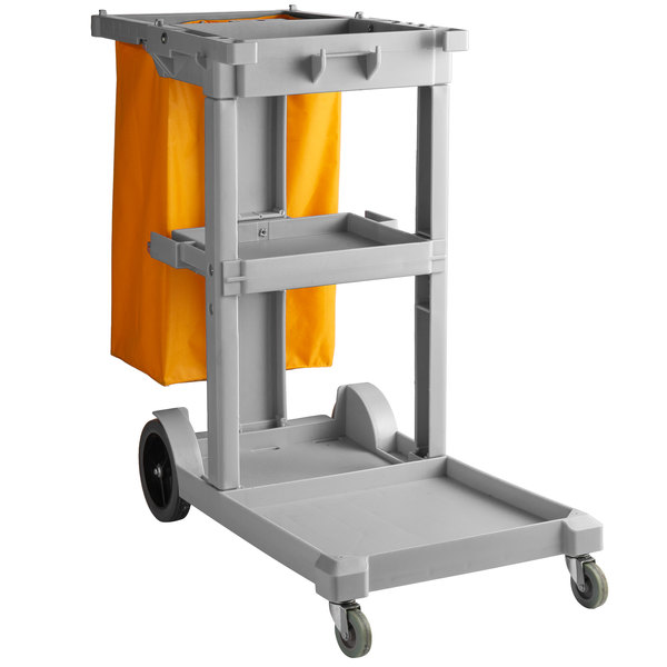 Lavex Janitorial Gray Cleaning Cart