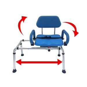 CAROUSEL Sliding Transfer Bench Swivel Seat