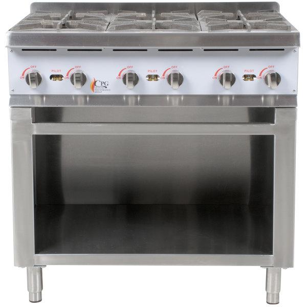 Burner Gas Range / Hot Plate with Cabinet Base