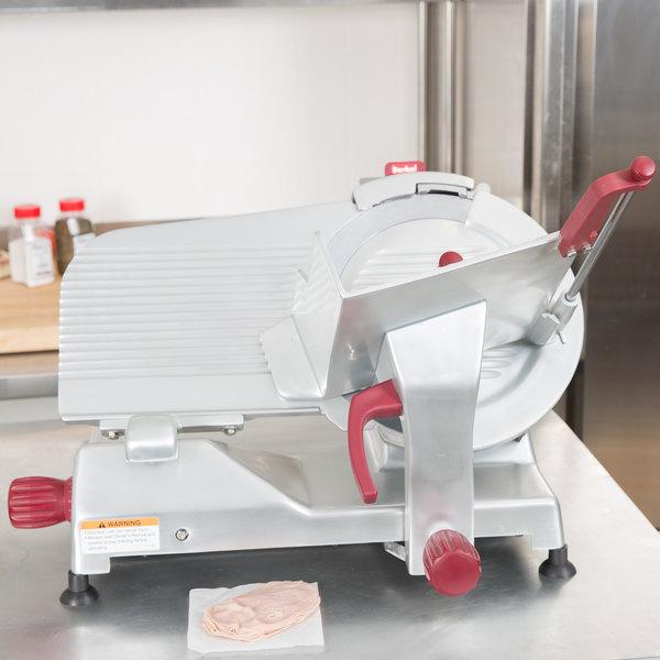 "Berkel 829A-PLUS 14"" Manual Gravity Feed Meat Slicer - 1/2 hp"