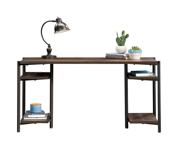 Curiod Open Shelf Desk, Smoked Oak Finish
