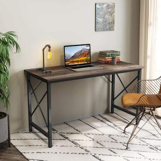 Tribesigns Writing Computer Desk, Modern Simple Computer Table Study Desk, Industrial Vintage Laptop Table for Home Office
